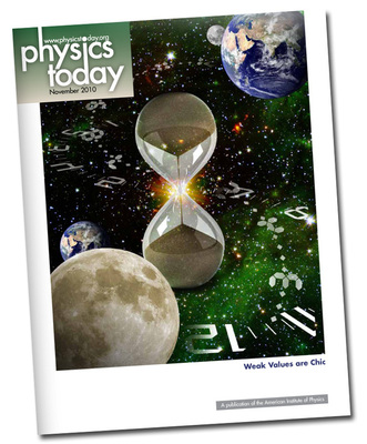 Physics Today cover comprehensive