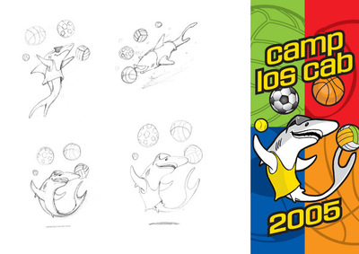 sharkey mascot illustration/design
