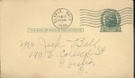 Jack P. Bell World War Two Correspondence #104