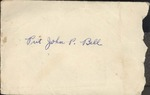 Jack P. Bell World War Two Correspondence #112