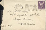 Jack P. Bell World War Two Correspondence #114