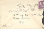 Jack P. Bell World War Two Correspondence #115