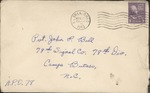 Jack P. Bell World War Two Correspondence #125