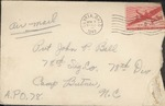 Jack P. Bell World War Two Correspondence #135