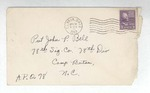 Jack P. Bell World War Two Correspondence #153