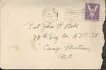 Jack P. Bell World War Two Correspondence #213