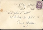 Jack P. Bell World War Two Correspondence #247