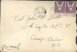 Jack P. Bell World War Two Correspondence #257