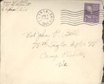 Jack P. Bell World War Two Correspondence #386