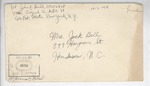 Jack P. Bell World War Two Correspondence #399