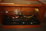 Ronald B. Broadwell Antique Musical Instruments case dedication with Ann Broadwell