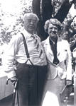 Charles C. Chapman and Ethel Chapman Wickett at a birthday picnic for Charles C. Chapman at Orange County Park, California, July 2, 1937