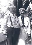 Charles C. Chapman and Ethel Chapman Wickett at a birthday picnic for Charles C. Chapman at Orange County Park, California, July 2, 1937