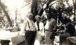 Charles C. Chapman, Ethel Chapman Wickett and Stanley Chapman at Orange County Park, 1937