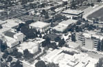 Aerial view of the Chapman College campus, Orange, California