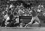 Chapman College baseball player at bat