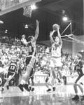 Basketball game in the Hutton Sports Center, Chapman College, Orange, California