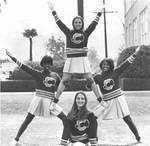Bee Yell team, Chapman College, Orange, California, 1968