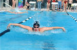 Chapman University women's swim team member, Orange, California