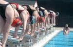 Chapman University women's swim team, Orange, California
