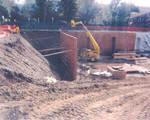 Digging the foundation for Beckman Hall, Chapman University, Orange, California