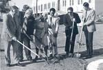 Groundbreaking for the Hutton Sports Center, Chapman College, Orange, California, March 22, 1977