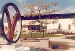 Sculpture by R. Bret Price and Harold Hutton Sports Center, Chapman College, Orange, California