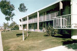 South Morlan Residence Hall, married student apartments, Chapman College, Orange, California