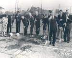 Groundbreaking for the future library, Chapman College, Orange, California,1965