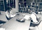 Study table in the Thurmond Clarke Memorial Library, Chapman College, Orange, California