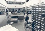 Interior of the Thurmond Clarke Memorial Library, Chapman College, Orange, California
