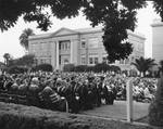 Commencement, Sunken Lawn, Chapman College, June, 1968