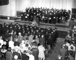 Commencement in Memorial Hall, Chapman College, 1960s