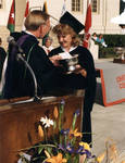 President Smith awards Cheverton trophy to Susan Reagan