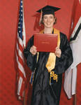 Graduate with diploma, 1998 commencement