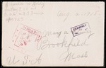 Charles W. Earley First World War Correspondence #5
