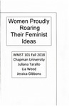 Women Proudly Roaring Their Feminist Ideas by Juliana Tarallo, Lia Weed, and Jessica Gibbons