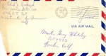 Gary Whiteley Korean War Correspondence #1