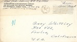 Gary Whiteley Korean War Correspondence #8