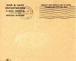 Harold J. Glickman World War Two Correspondence #3 by Harold J. Glickman