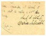 Israel and Fanny Temianka correspondence; (Scheidl)