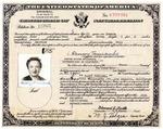 Fanny Temianka naturalization certificate by Fanny Temianka