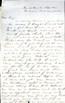 James B. Safford Civil War Correspondence #34
