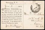 Joseph B. Wilkinson First World War Correspondence #1