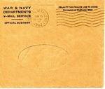 John G. Shindledecker First World War Correspondence #1