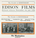 Clipping, November 1, 1909 Edison Kinetogram