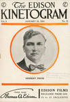 Herbert Prior on cover of Edison Kinetogram, 1914