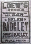 Poster for Helen Badgely appearances, 1915