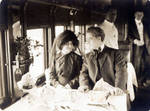 "Marguerite Snow and William Russell  in ""The Railroad Builder,"" 1911"