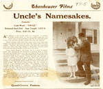 Uncle's Namesakes, 1913
